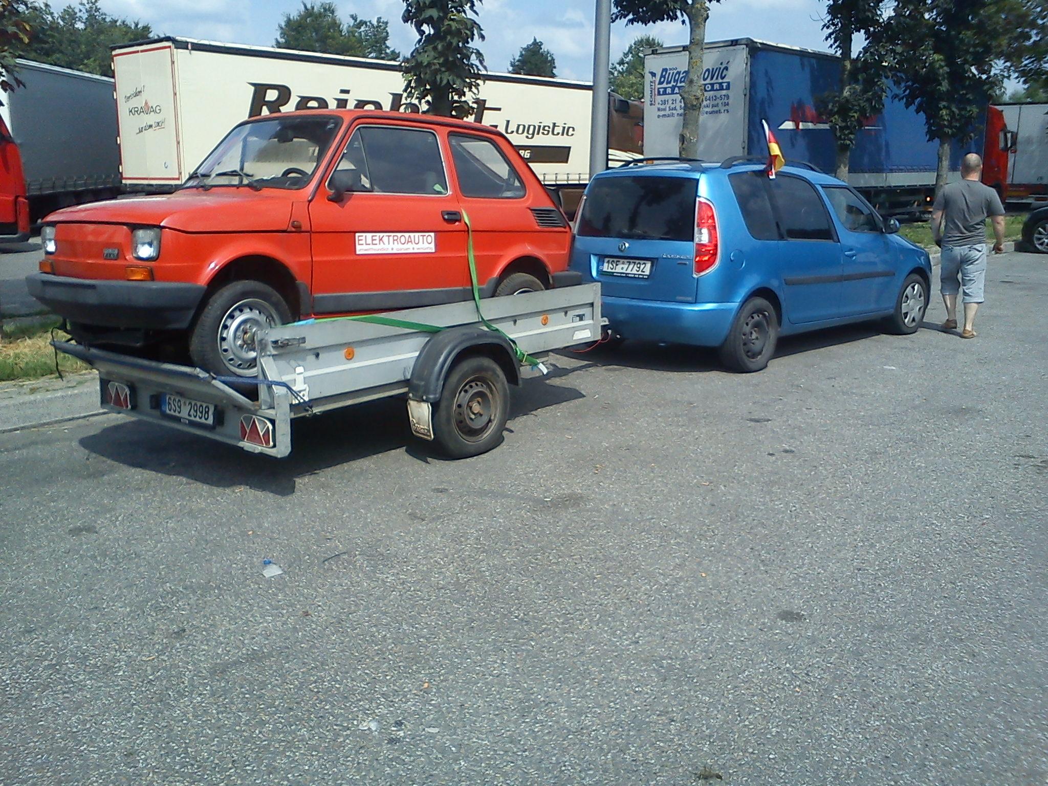 Electric Conversion Fiat 126 Car Evracing Cz