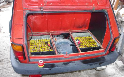 2x38 cells (the rest is located inside under the seat)
